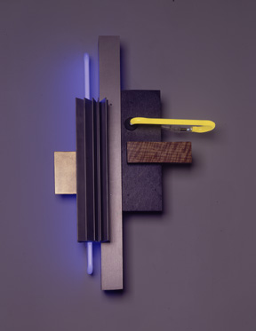 """Construction IV"" Neon art, sculptures in the Constructivist style"