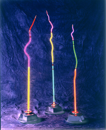 Large Stalaglites, featured in this virtual neon art gallery, displaying the neon sculpture and neon art installations, including modern and contemporary art work as well as a line of neon clocks and wall sconces