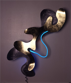 """Cool Breeze on a Warm Day in the Caribbean,""  Neon art Sculpture"