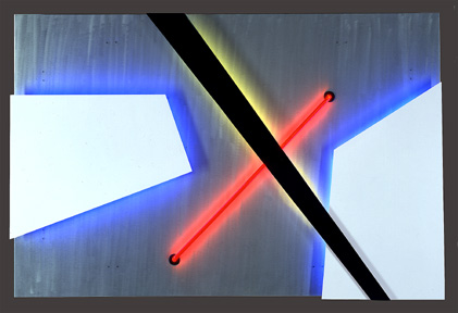 Tectonic III, featured in this virtual neon art gallery, displaying the neon sculpture and neon art installations, including modern and contemporary art work as well as a line of neon clocks and wall sconces