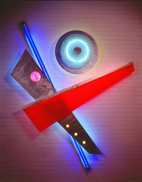 """Celebration I"", exhibited in this virtual neon art gallery exhibition of neon sculpture and neon art installations"