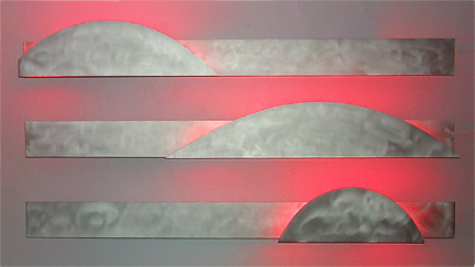 Arc Series I, a neon art sculpture wall sconce