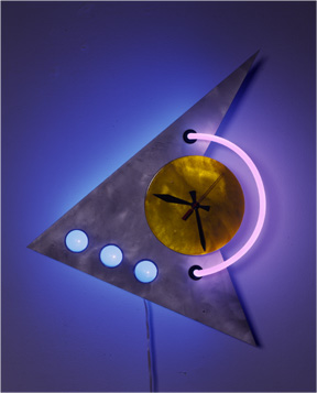 """starClock,"" Unique Neon Clocks: original, indoor, outdoor, modern and futurist, electric with neon light"